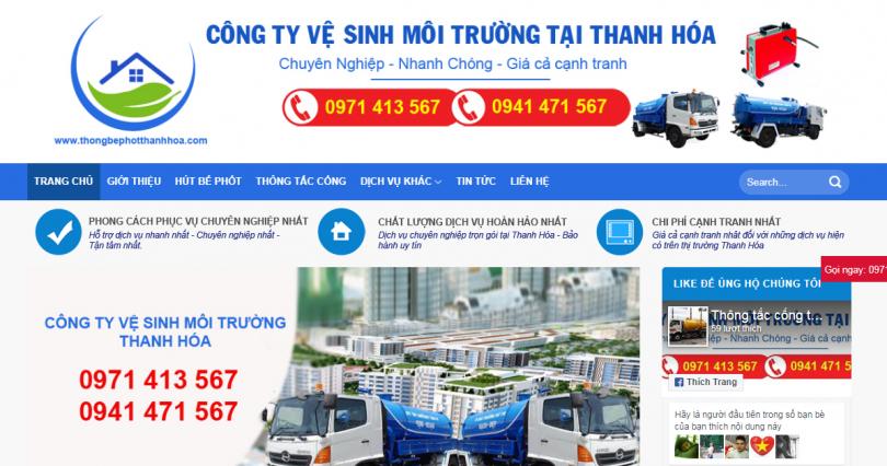 Dự án thông bể phốt Thanh Hóa